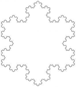 Copo de nieve de Koch