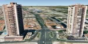 Simulación 3D Torres Puente de Segovia paralelas