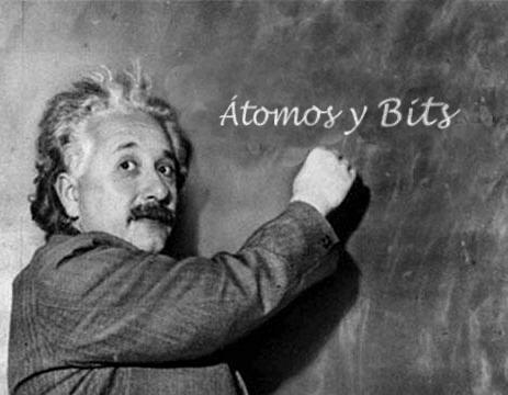 Einstein dedica un saludo a Átomos y Bits