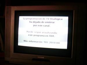 Se acabó la TV analógica