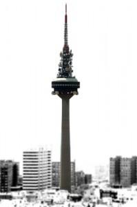 """Torre España, también conocida como """"El Pirulí"""""""