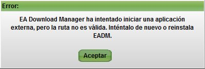 Mensaje de error del EA Download Manager