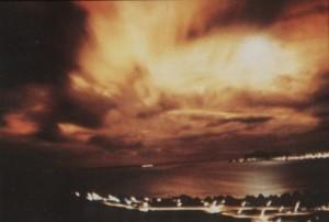 Resplandor de la operación Starfish Prime visto desde Honolulu