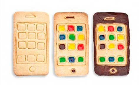 Galletas con forma de iPhone, molde