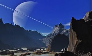 Artistic exoplanet